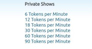 chaturbate private show minuto