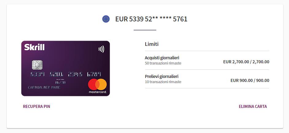 carta di credito skrill