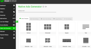 native ads generator crack revenue