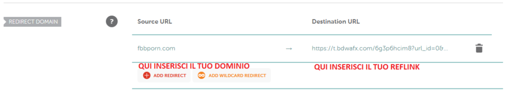 connettere i domini ai reflink