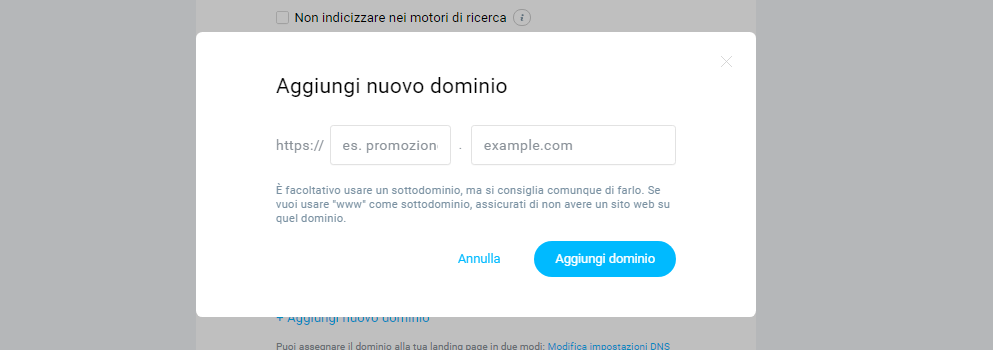 dominio personalizzato getresponse